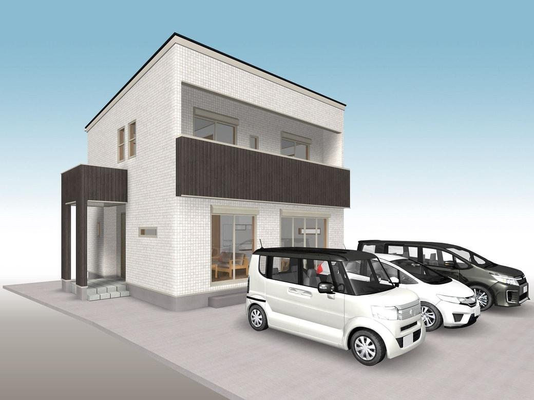 ■ 高知市鴨部(平田団地) 3LDK+WIC(建築条件付き:プラン例)